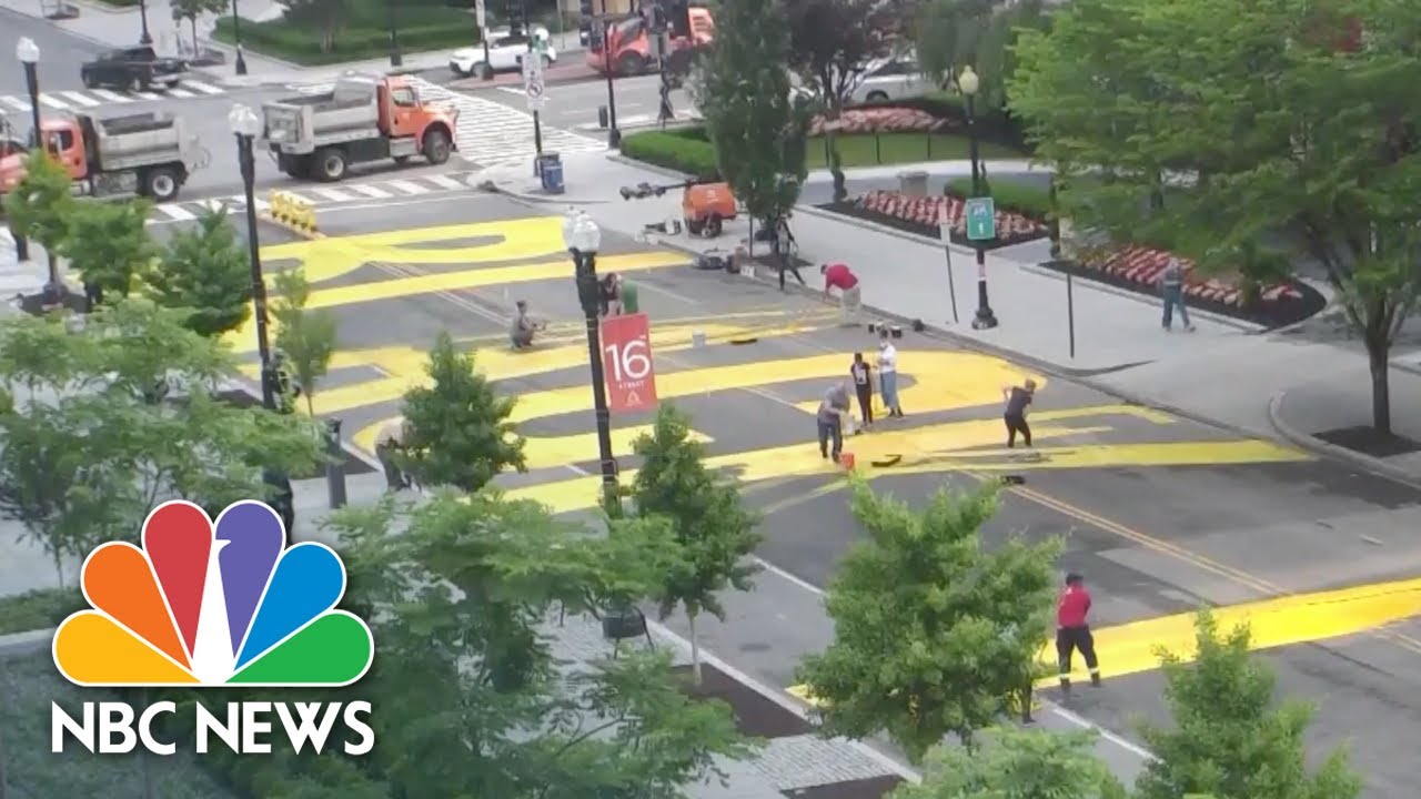 'Black Lives Matter' Painted On Street Leading To White House