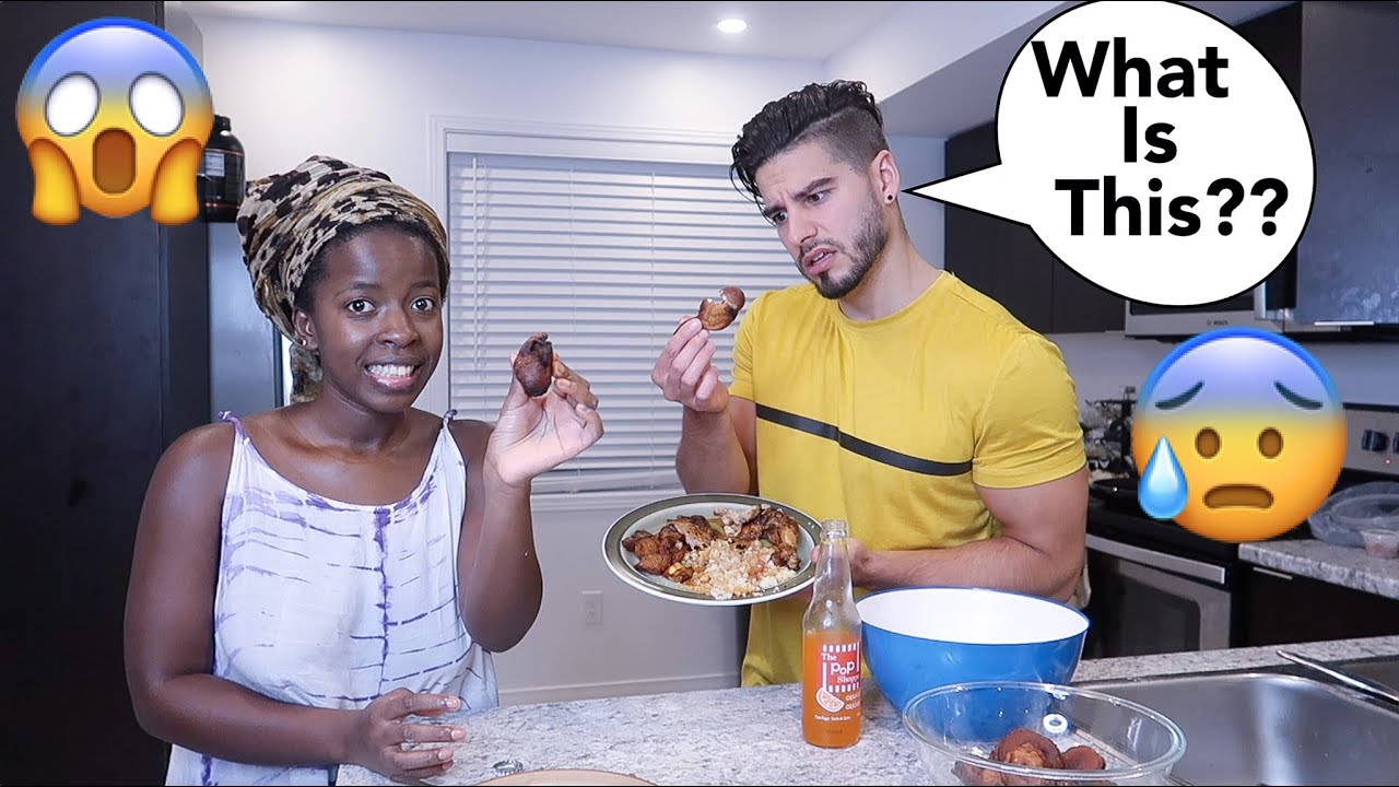 BOYFRIEND TRIES AFRICAN FOOD FOR THE FIRST TIME…