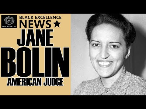 Black Excellist News: Jane Bolin – First African American Female