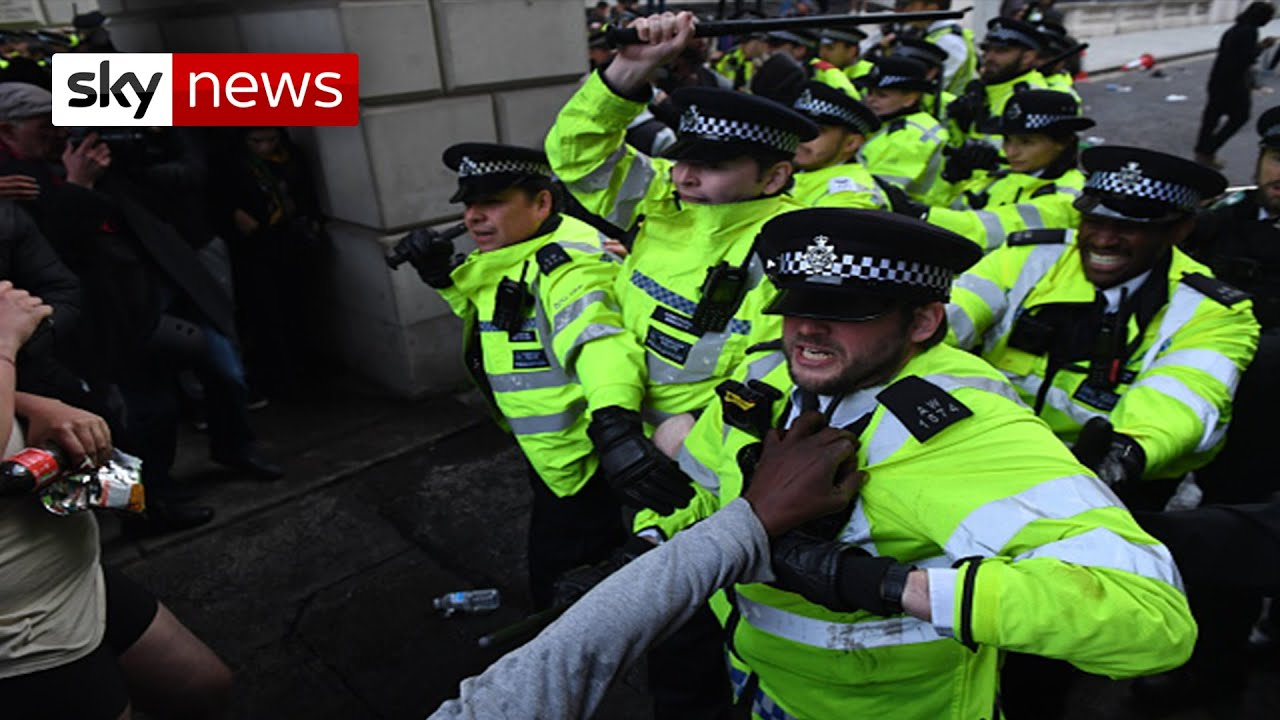 Black Lives Matter protesters and police clash again in London