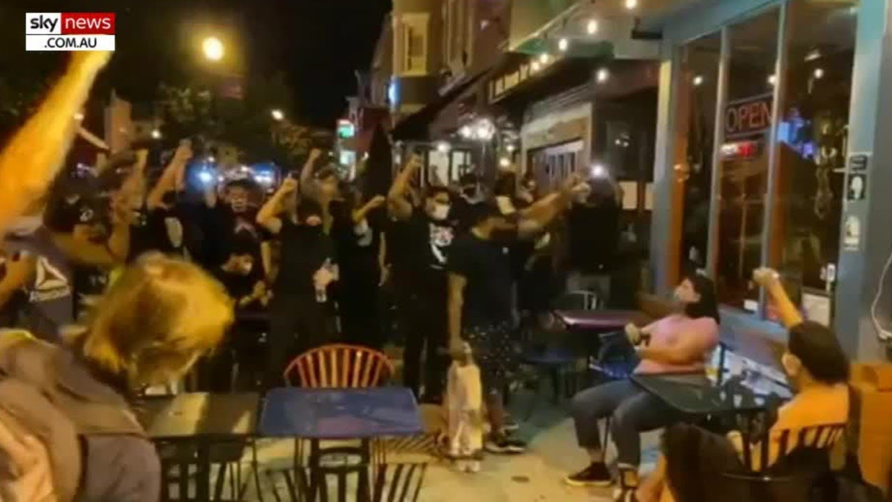 Black Lives Matter protesters confront white diners outside DC cafe