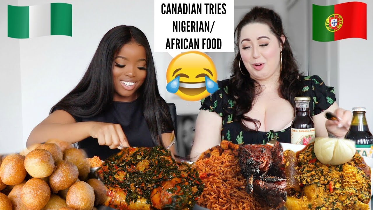 CANADIAN Tries Nigerian/African Food for the 1st Time 😂 ||