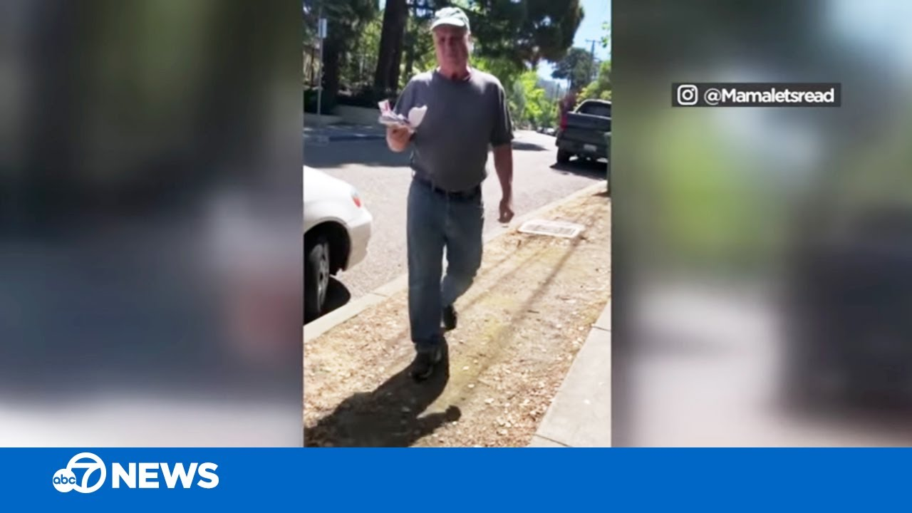 California woman films confrontation with man who ripped down Black