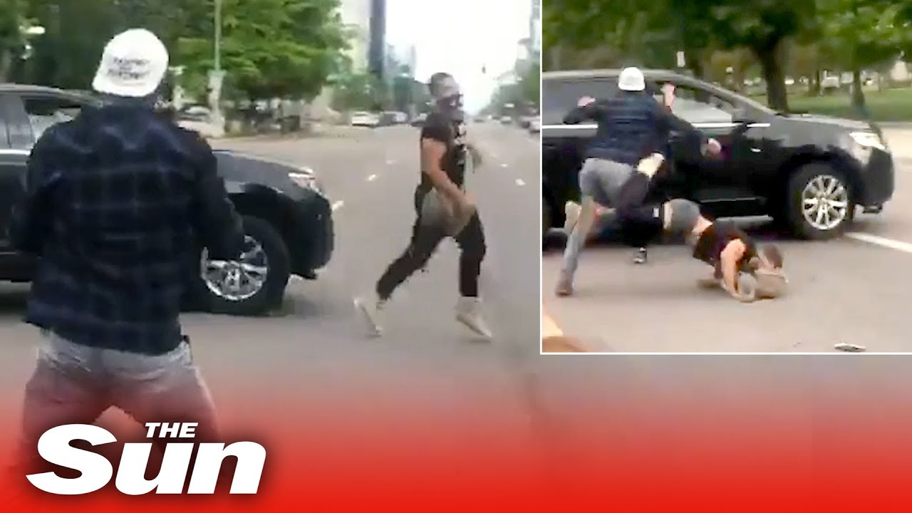 Driver 'ploughs into George Floyd protester' at Black Lives Matter