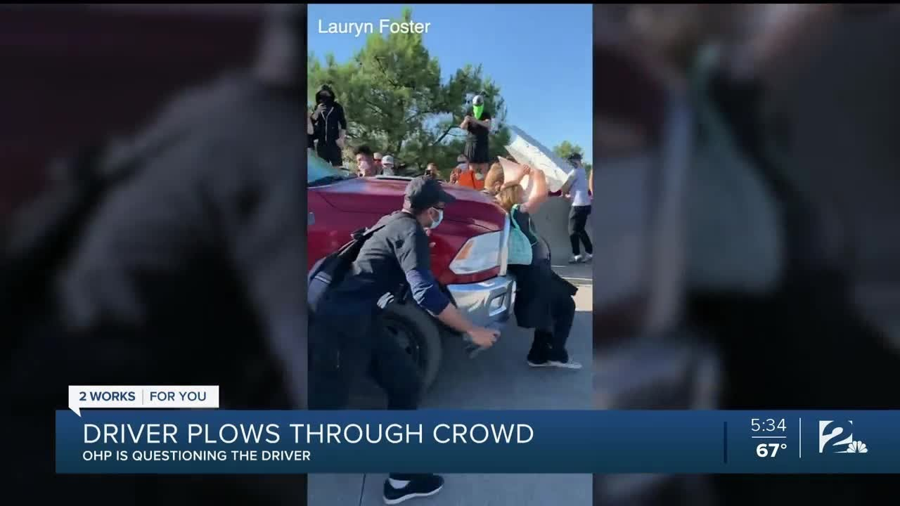 Driver hits protesters in crowd at Black Lives Matter rally