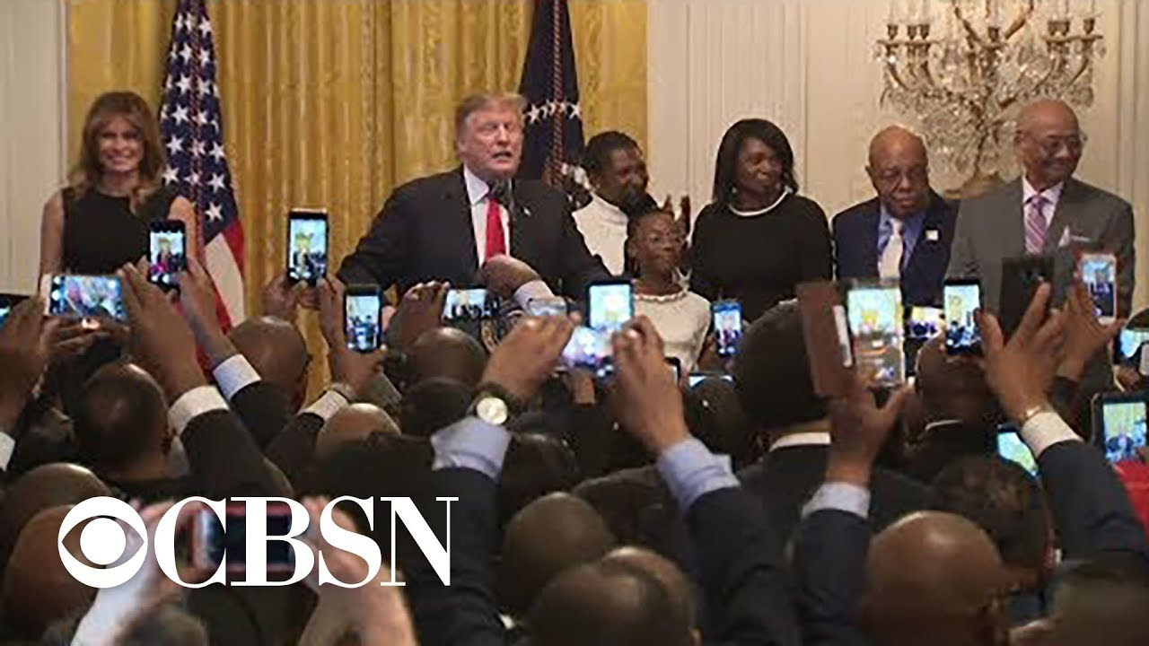 Live: Trump hosts African American History Month reception