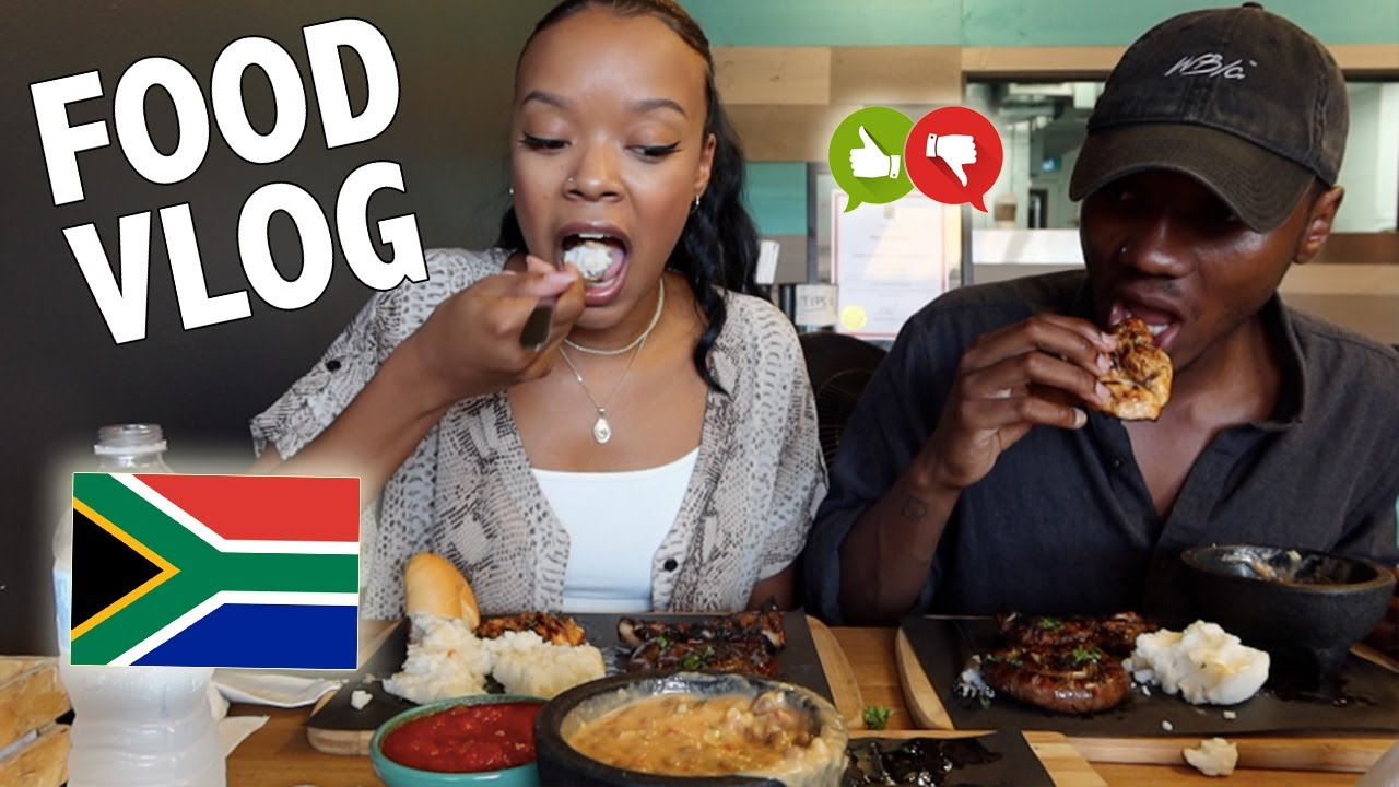 Mukbang // Eating South African Food for the FIRST Time!!