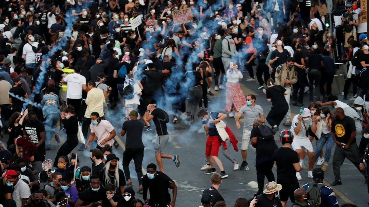 Paris: Police use tear gas to disperse protest over killing