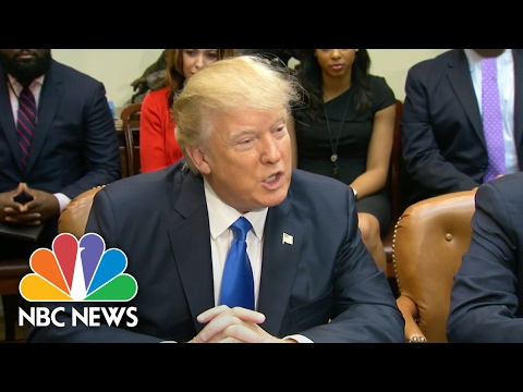 President Donald Trump Meets with African American Leaders At White