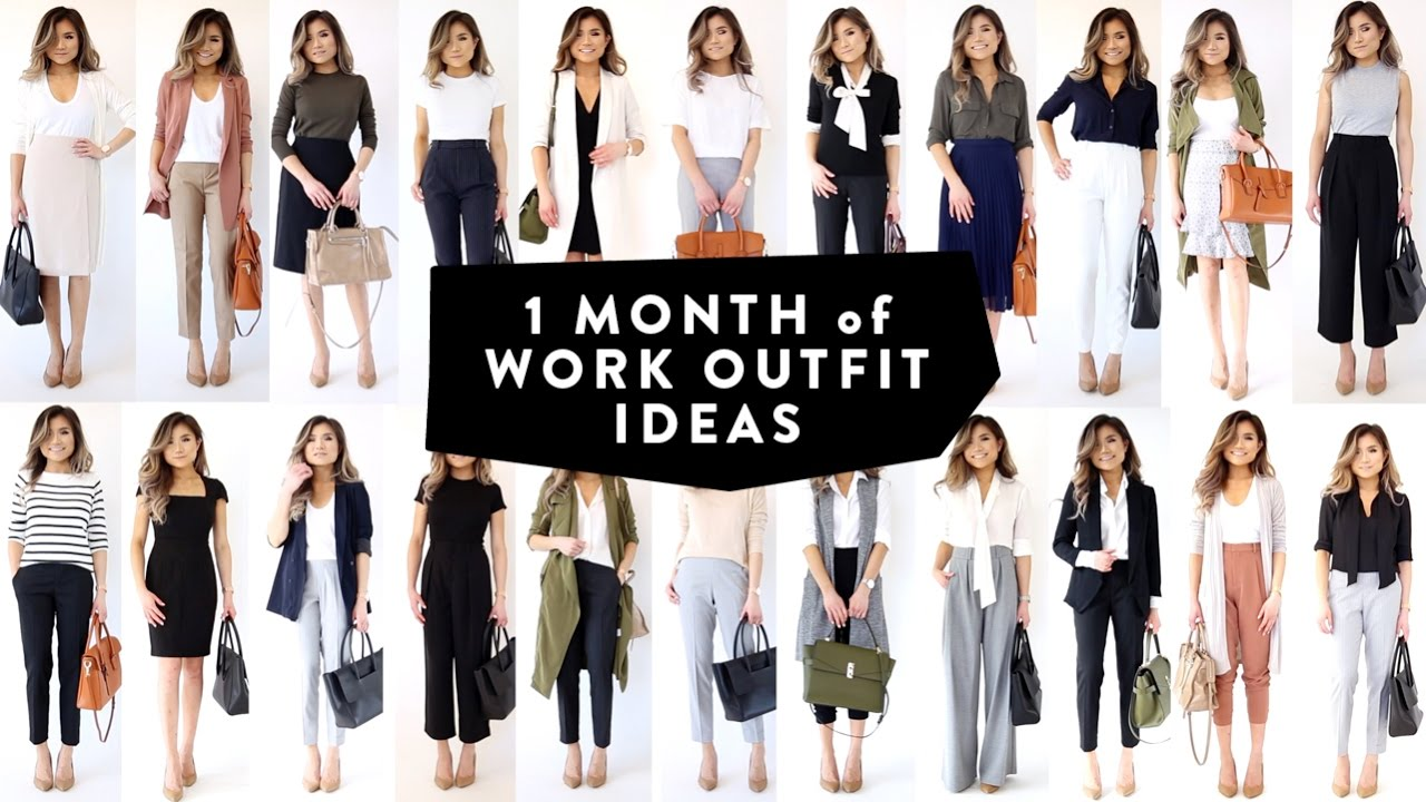 1 MONTH OF WORK OUTFIT IDEAS | Professional Work Office