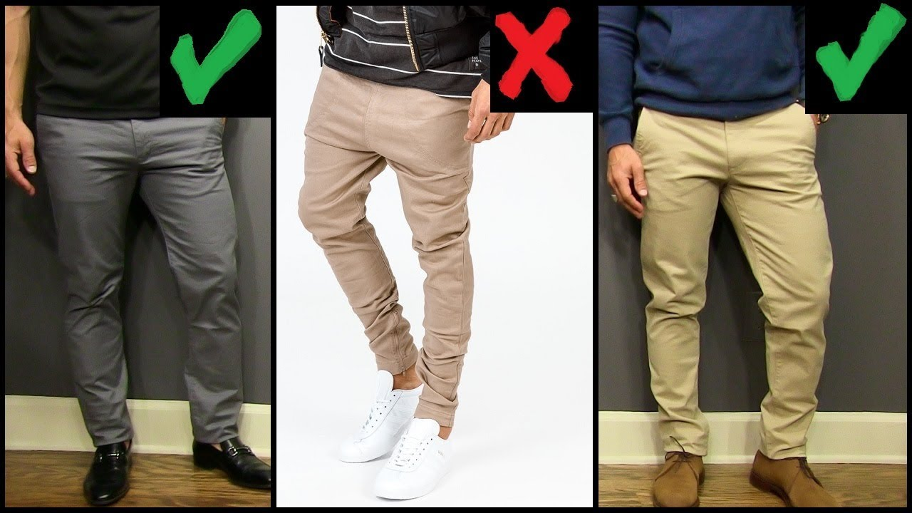 5 YOUNG MEN'S Style Tips | How To Wear Chinos