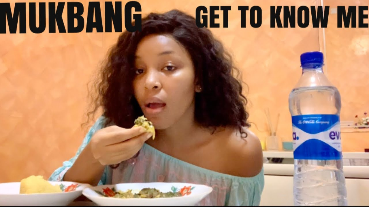 AFRICAN FOOD MUKBANG |GET TO KNOW ME TAG
