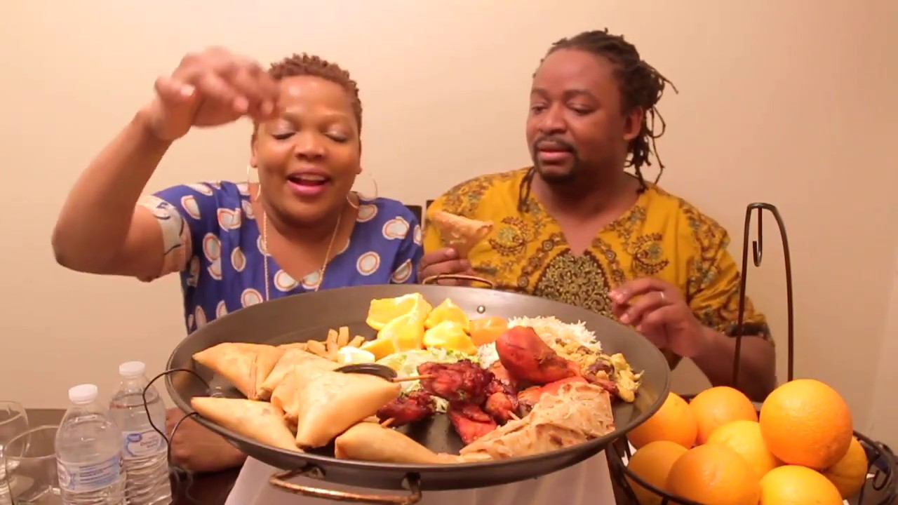 ASMR eating african food