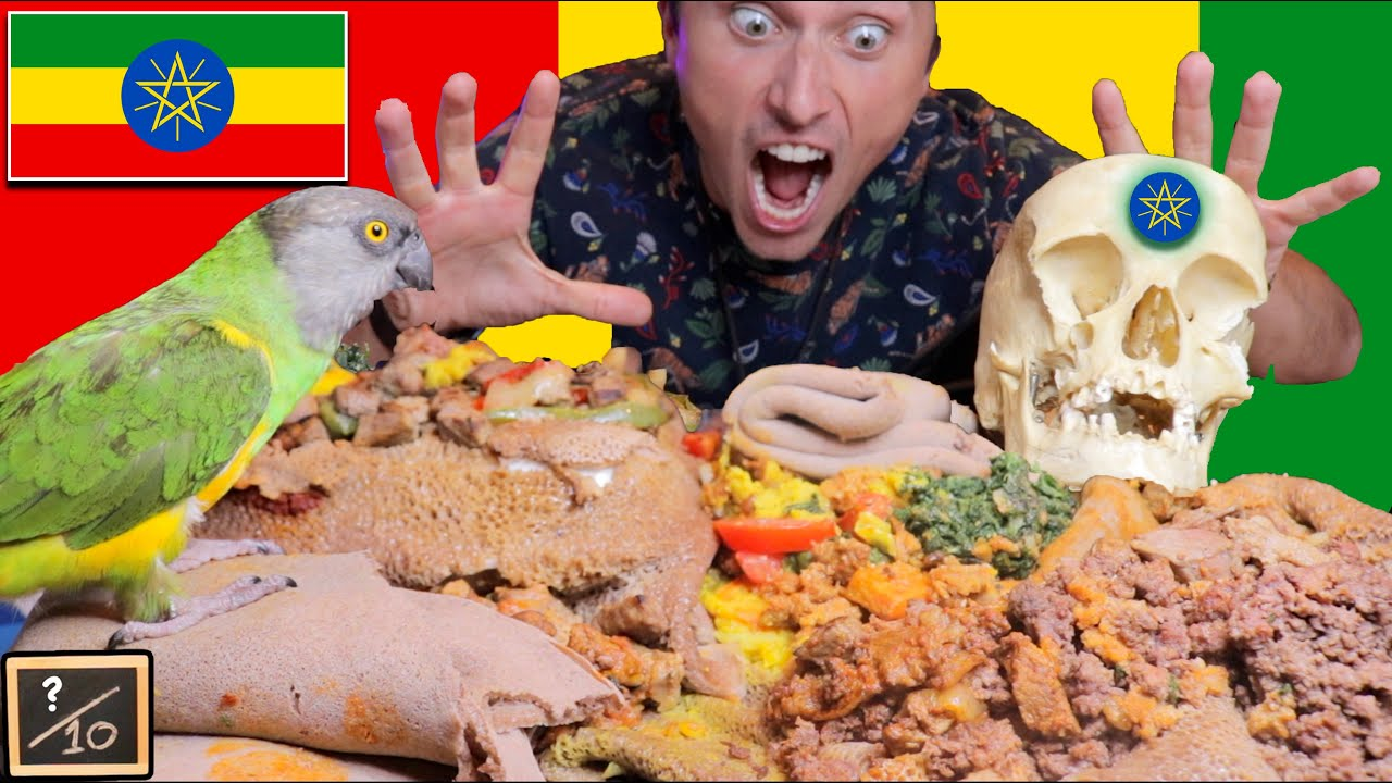 African Food EATING WITH HANDS (Ethiopian Mukbang)