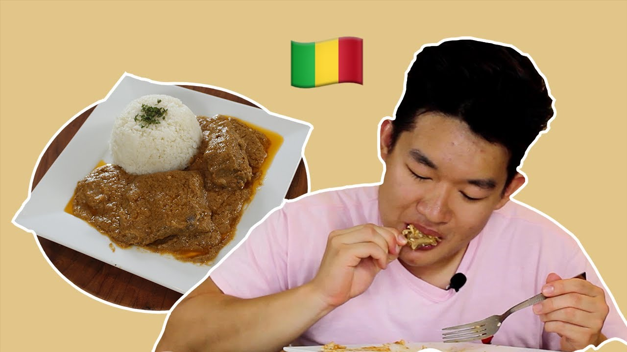 Americans Eat African Food for the First Time: Tigadegena (Maafe)