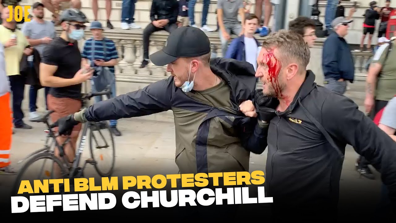 Anti Black Lives Matter protesters turn out to 'defend Churchill