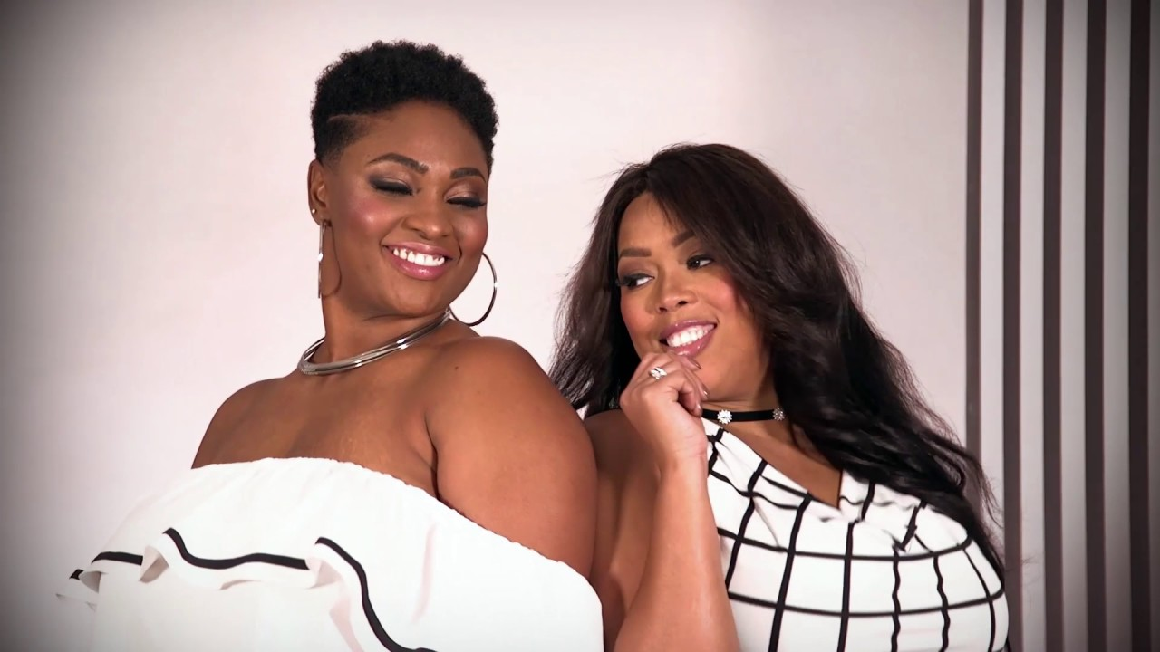 Ashley Stewart's Plus Size Trends: Black & White