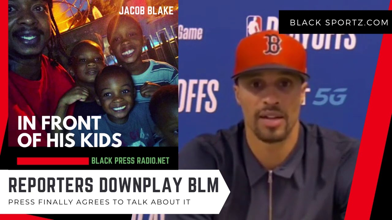 BLACK ATHLETES pissed while REPORTERS seem frustrated. Watch #GeorgeHill on