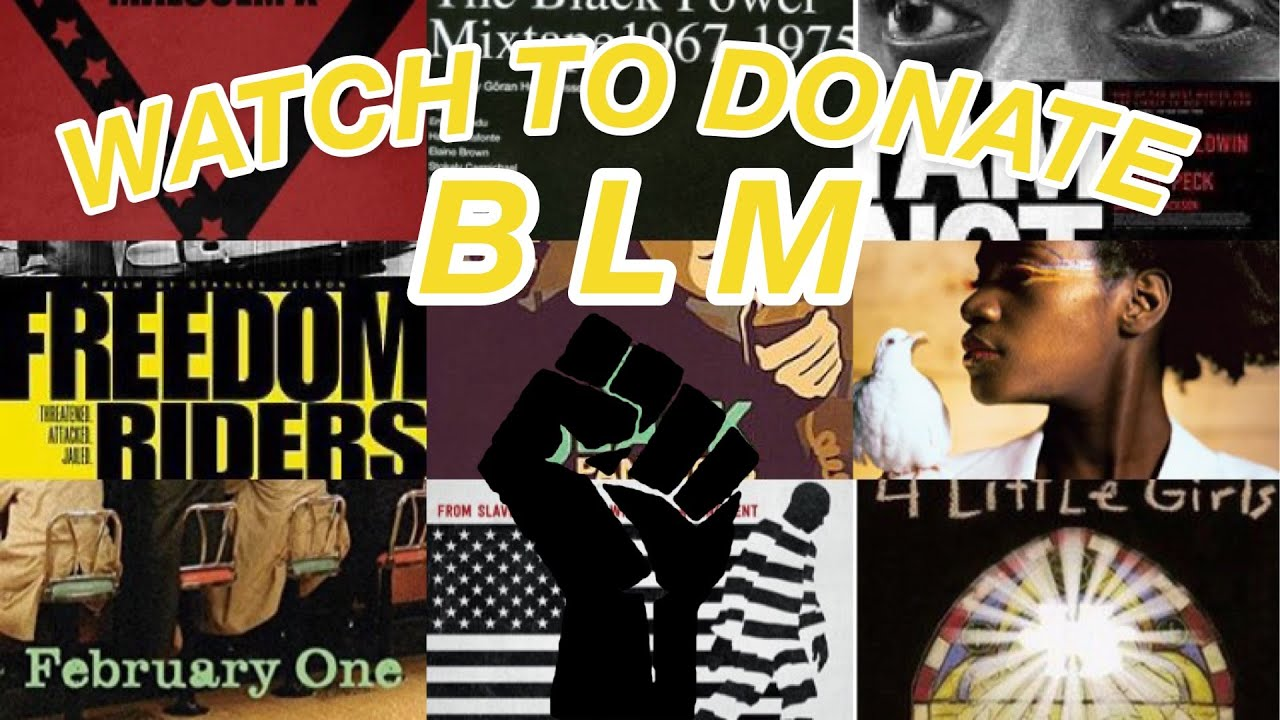 BLACK LIVES MATTER – stream this video to donate for