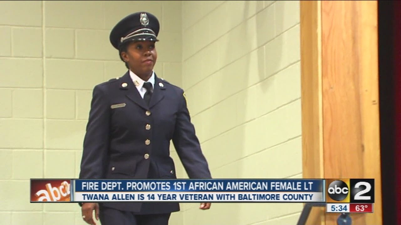 Baltimore Co. fire department honors first African American female lieutenant