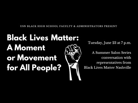 Black Lives Matter: A Moment or Movement for All People?