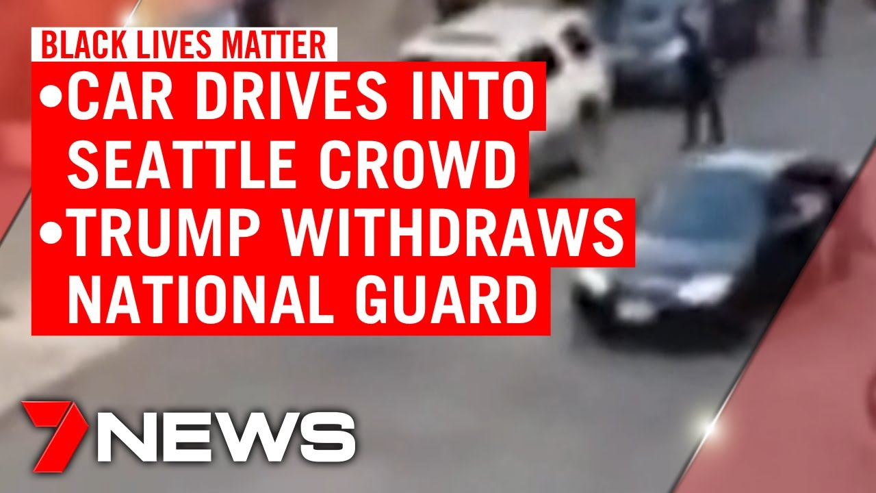 Black Lives Matter: Car drives into protesters in Seattle, Trump