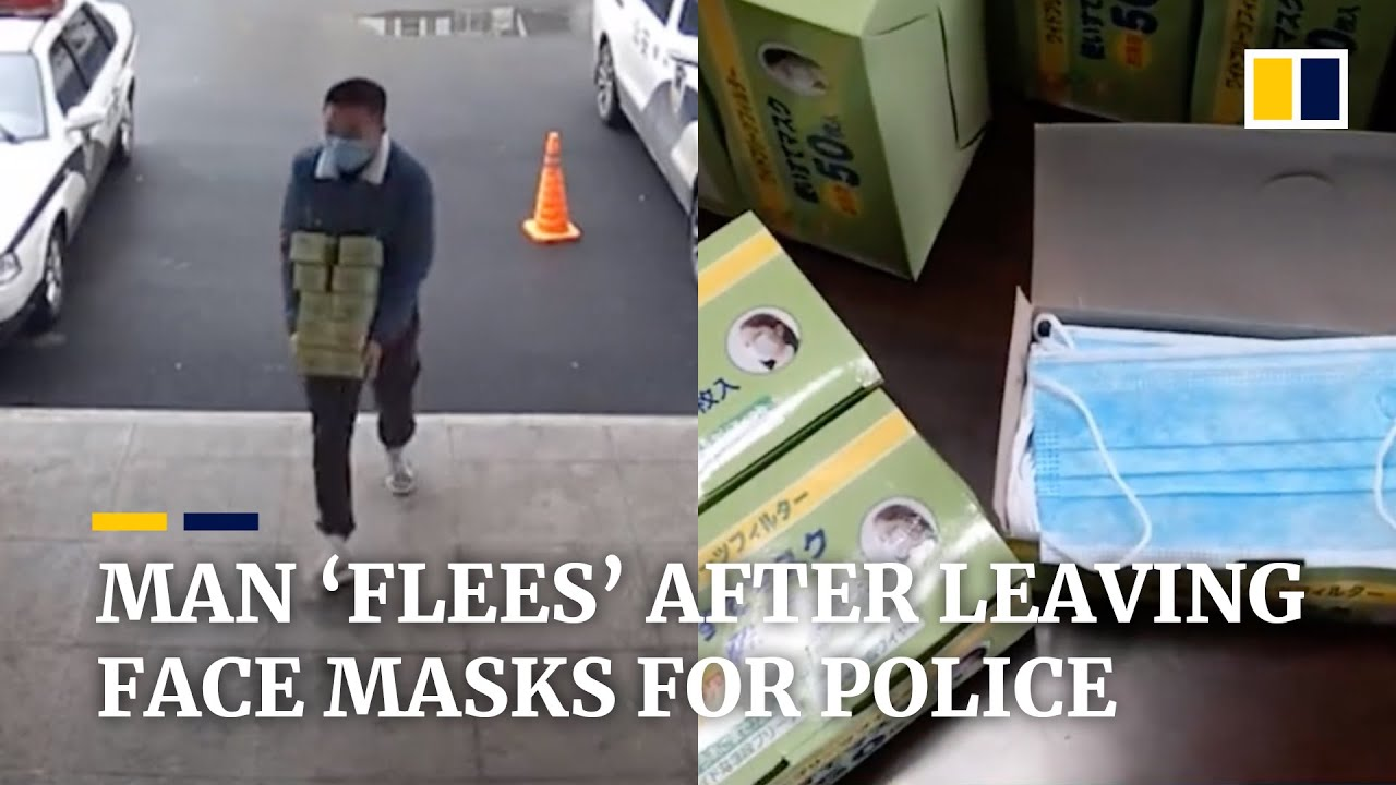 China coronavirus: Chinese man 'flees' after leaving face masks for