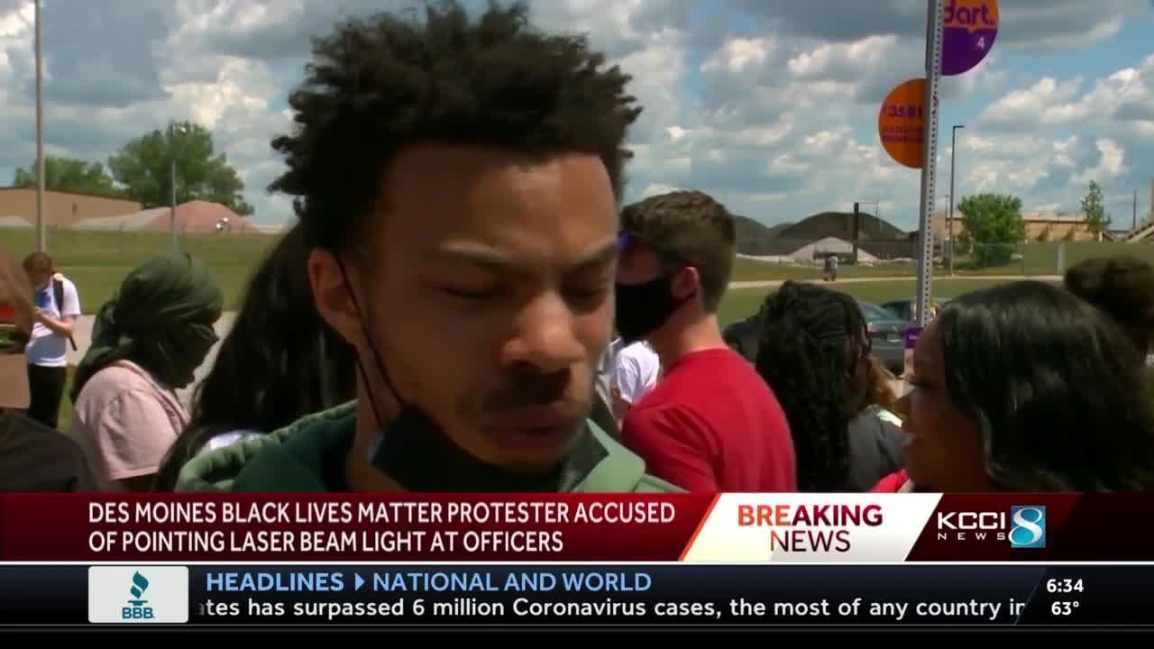 Des Moines Black Lives Matter organizer charged with 9 felony