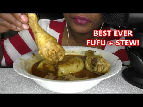 FUFU + STEW African Food DELICIOUS ASMR