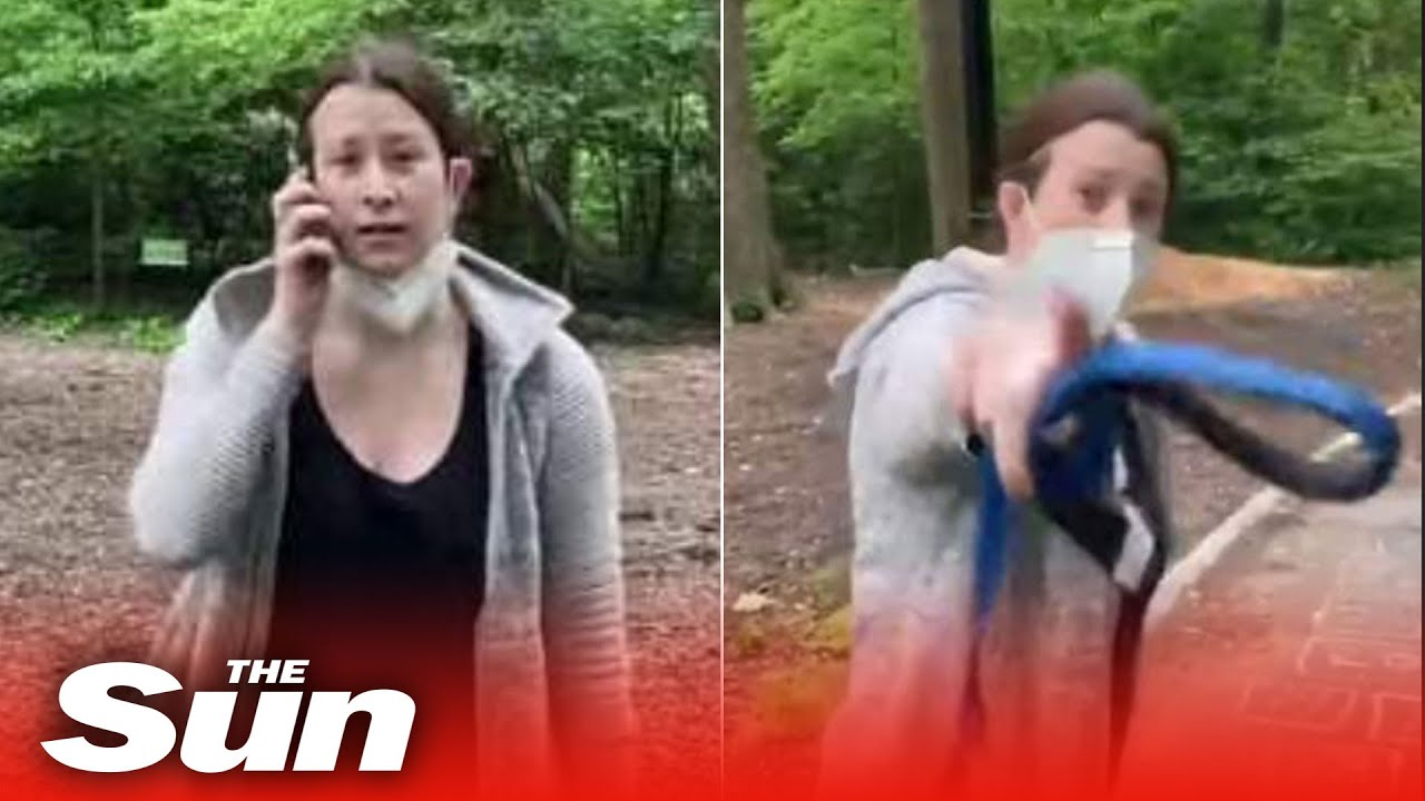 Frantic white woman calls police to report 'African-American threatening her