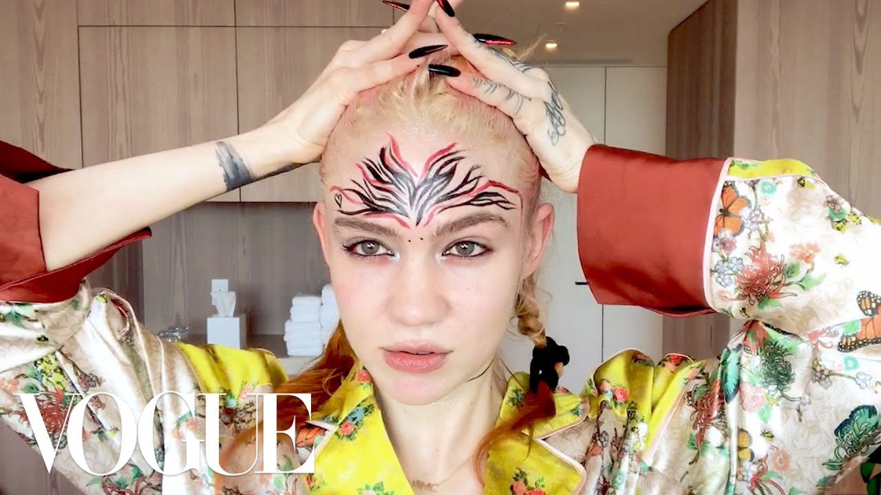 Grimes's Pregnancy Skincare & Psychedelic Makeup Routine | Beauty Secrets