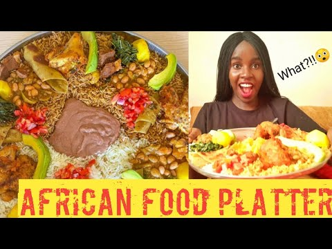 Huge platter of African food – Ugandan cuisine | Rahim