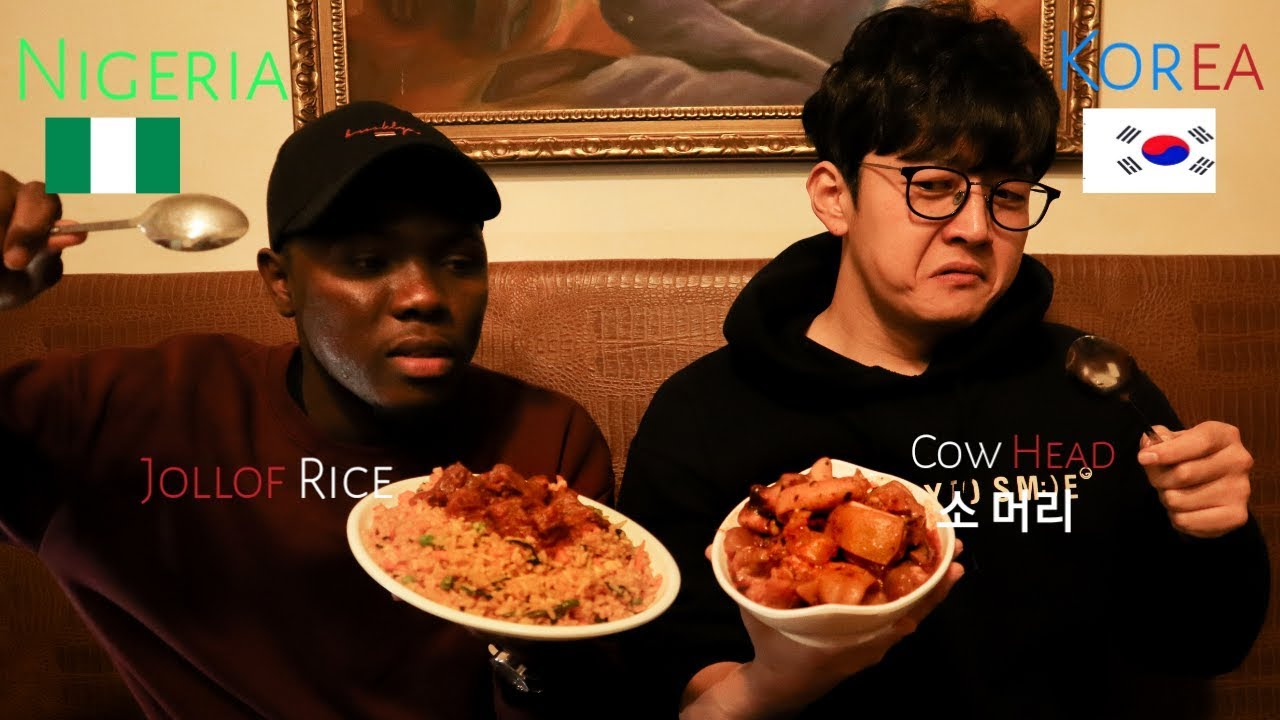 Korean Eating African Food For The First Time | 어서와