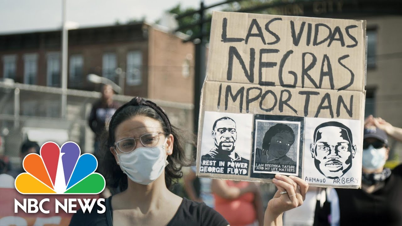 Latino Community Marches In Solidarity With Black Lives Matter Movement
