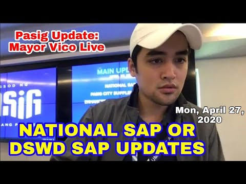 MAYOR VICO'S PASIG UPDATE: NATIONAL SAP | PASIG SAP |
