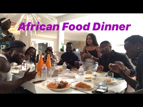 MICHAEL BLACKSON HAVING DELICIOUS AFRICAN FOOD DINNER WITH HIS AMAZING