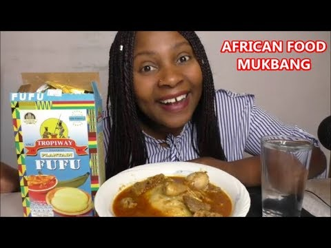 MUKBANG: AFRICAN FOOD FUFU WITH ASSORTED MEAT/SOUP/STEW