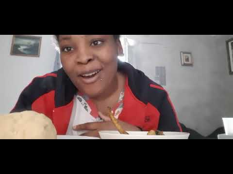 #MUKBANG/Nigerian African Food/Just Me To Eat My Ogbono Soup And