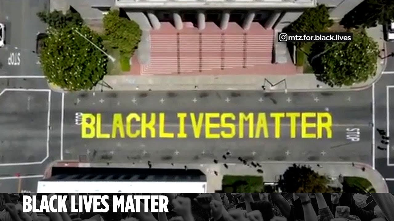 Man confronts suspects caught on camera defacing Black Lives Matter