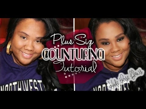NEW Plus Size Face Contouring | Hide That Double Chin!