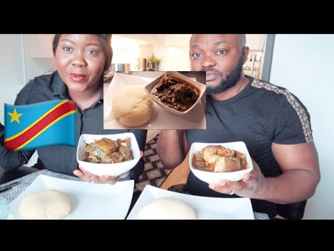 NIGERIAN HUSBAND EATING CONGOLESE/AFRICAN FOOD MUKBANG