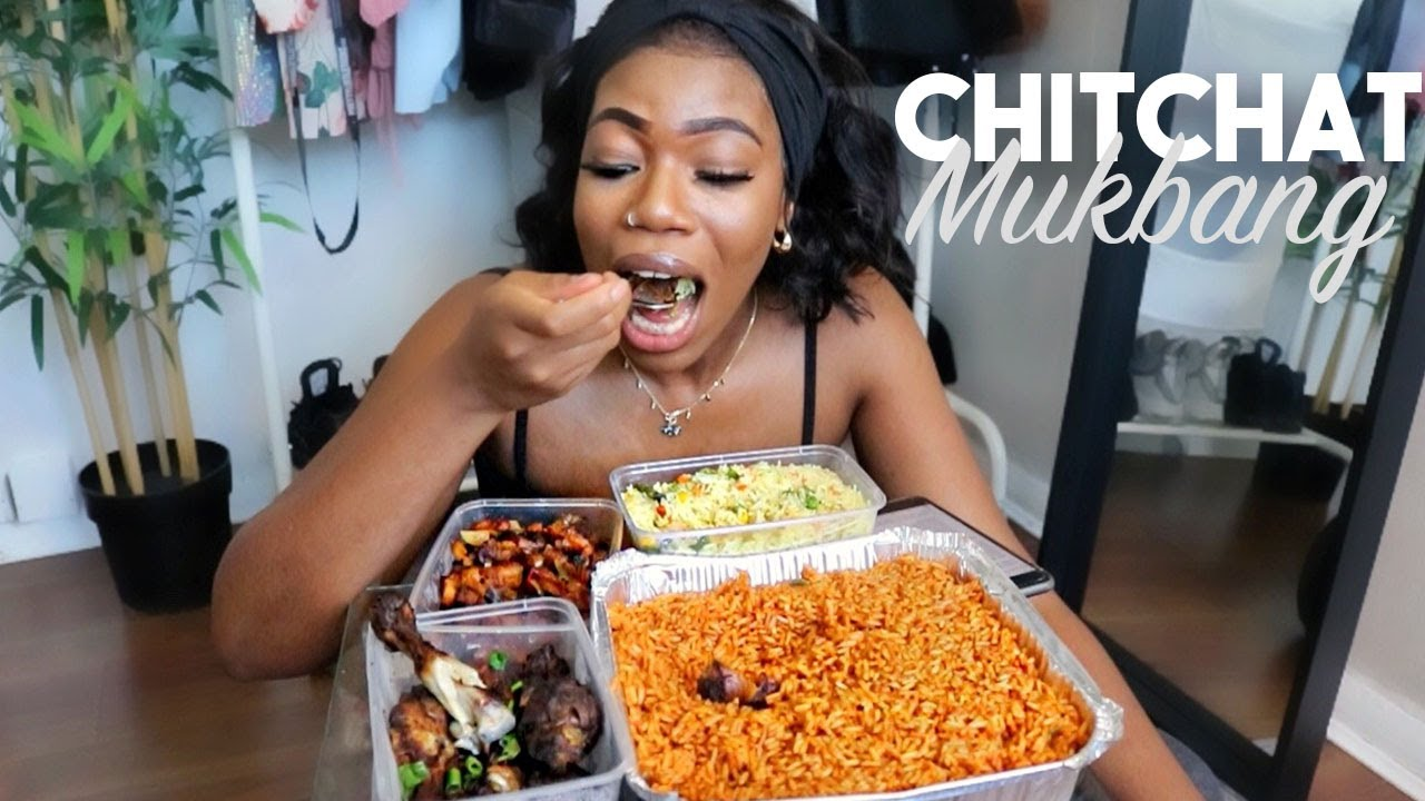 NIGERIAN/AFRICAN FOOD CHIT CHAT MUKBANG: BEING A BLACK WOMAN AT