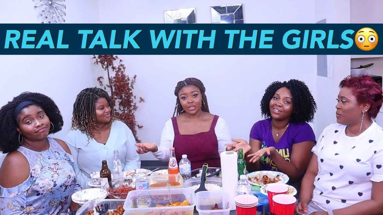NIGERIAN/AFRICAN FOOD MUKBANG || REAL TALK WITH THE GIRLS ||