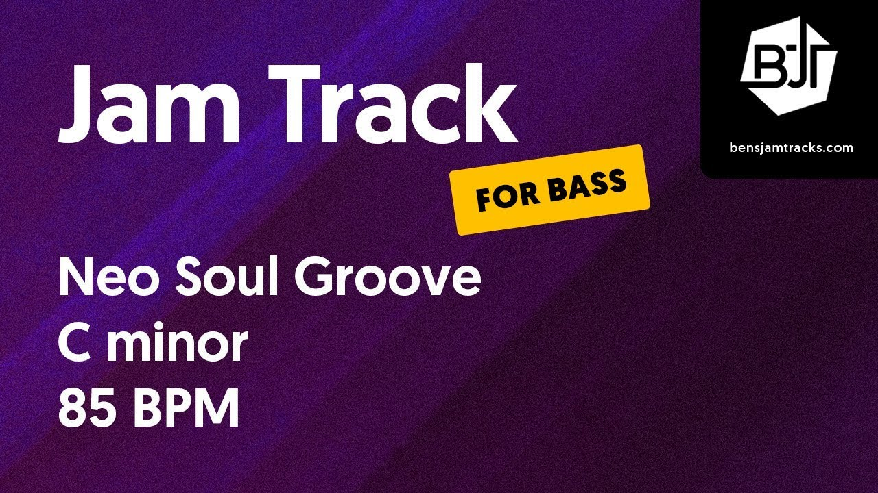 Neo Soul Groove Jam Track in C minor (for bass)