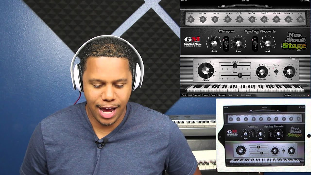 Neo-Soul Keys for iOS/iPad Version 1.2 AudioBus using GarageBand iOS