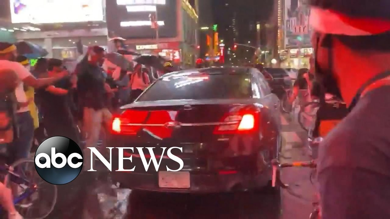 Police: Counter-protester drives car through crowd of Black Lives Matter