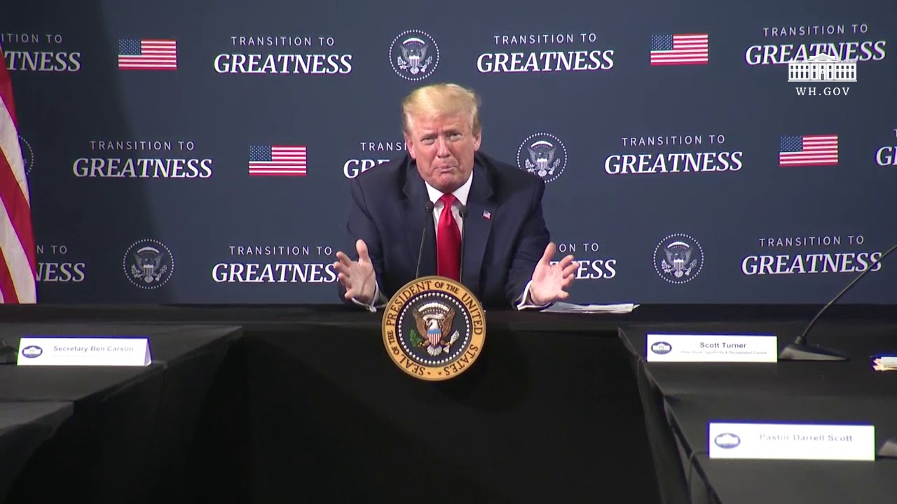 President Trump Participates in a Listening Session with African-American Leaders