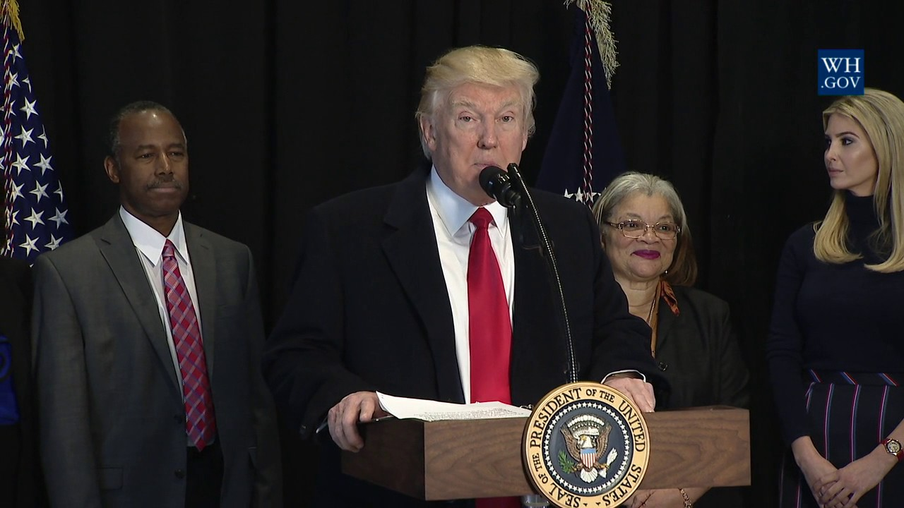 President Trump Speaks at the National Museum of African American