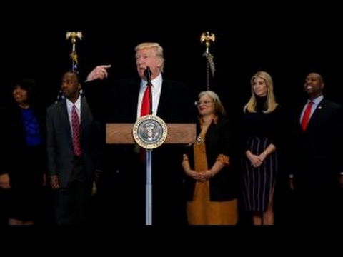 President Trump visits new African American museum