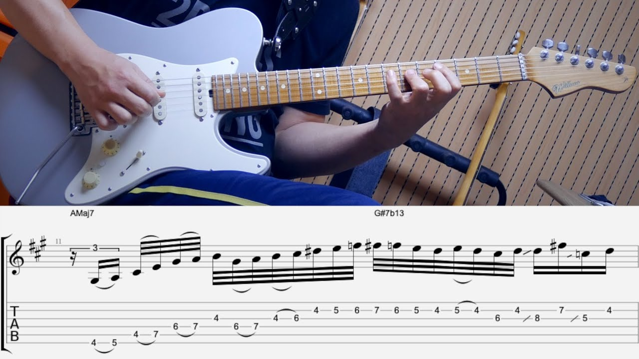 RoyZiv NeoSoul Cover + TABs + Free Backing Track By